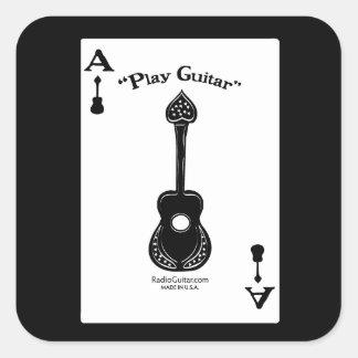 As de la guitarra colcomanias cuadradas