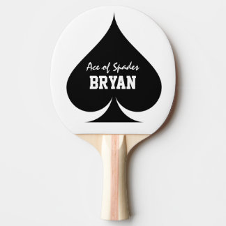 As de la paleta del ping-pong de los tenis de mesa pala de ping pong
