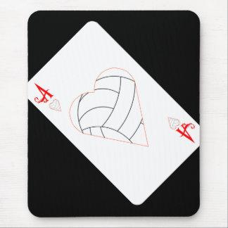 As de la porción del voleibol tapetes de ratón