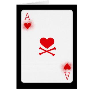 As de la tarjeta de juego de naipe del póker de lo