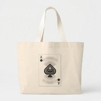 As de la tarjeta del póker de las espadas: bolsa tela grande