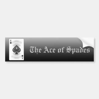 As de la tarjeta del póker de las espadas: pegatina de parachoque