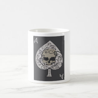 As de la taza decorativa del vidrio del café de la