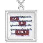 As de los corazones que significan el collar