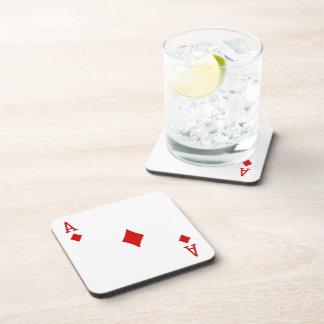 As de los prácticos de costa de los diamantes posavasos de bebida