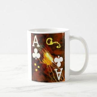 As de taza de café del póker del diseñador de club
