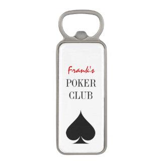 As del abrebotellas de encargo del club del póker abrebotellas magnético