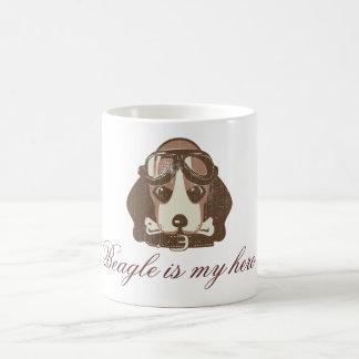 As del beagle [editable] taza de café