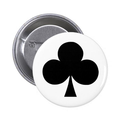 As del botón de los clubs pin