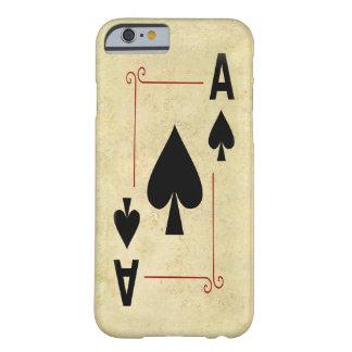 As del caso del iPhone de las espadas Funda De iPhone 6 Barely There