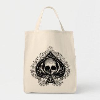 As del cráneo de espadas bolsa tela para la compra