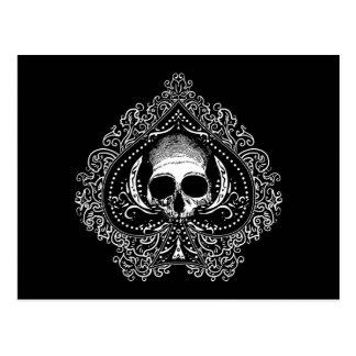 As del cráneo de espadas tarjeta postal