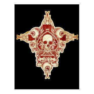 As del cráneo de espadas tarjetas postales