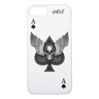 As del cráneo del caso del iPhone 7 de las espadas Funda iPhone 7