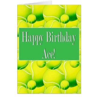 As del feliz cumpleaños, tarjeta de la pelota de t