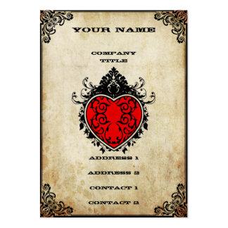 As del Grunge de corazones Tarjetas De Visita Grandes