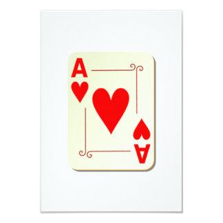 As del naipe de los corazones invitación 8,9 x 12,7 cm