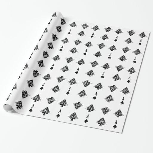 As del papel de embalaje de las espadas papel de regalo