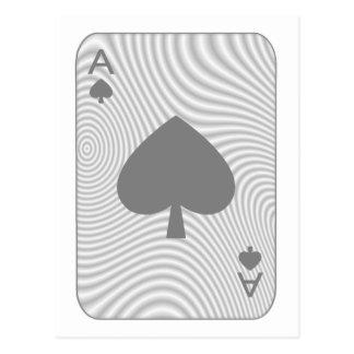 As del póker de espadas postal