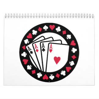 As del póker del casino calendarios