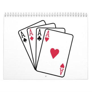 As del póker que juegan calendario