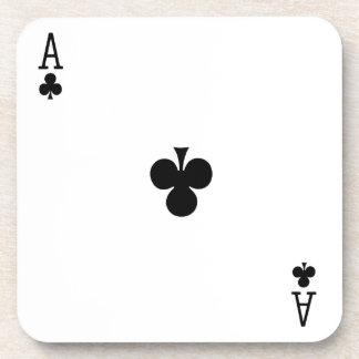 As del práctico de costa del juego de tarjeta de l posavasos