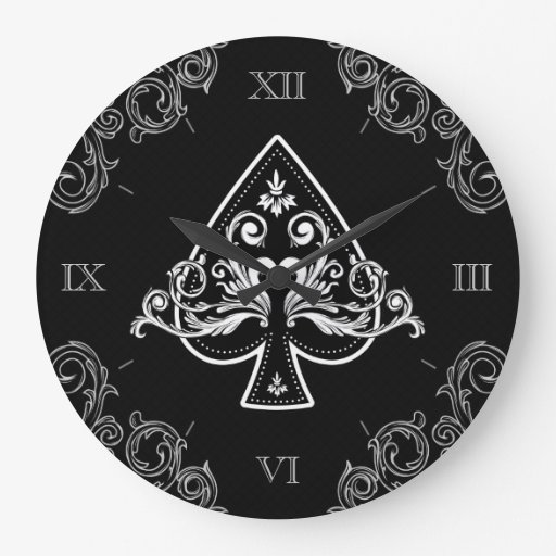As del reloj de pared de las espadas