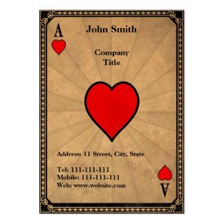 As del vintage de corazones tarjetas de visita grandes