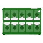 As diez de espadas en el mini caso del iPad verde
