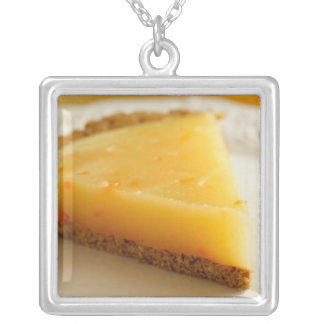 As Easy As Pie Square Pendant Necklace