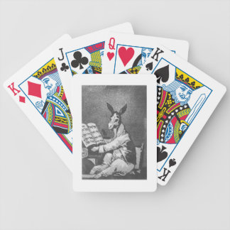 As Far back as his Grandfather, plate 39 of 'Los c Bicycle Playing Cards