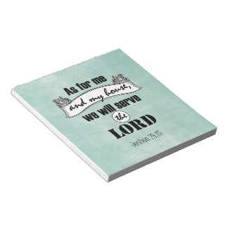 As for Me and My House Bible Verse Notepad