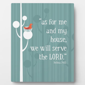 As For Me and My House Plaque