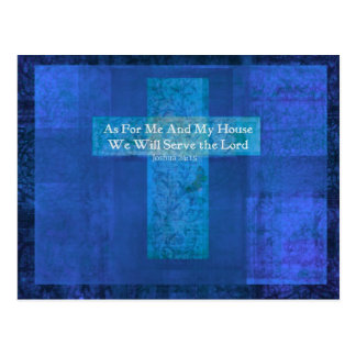 As For Me And My House We Will Serve the Lord Postcard