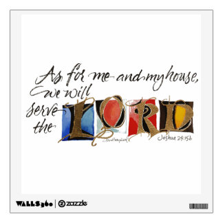 As For Me by Lyn Graybeal Wall Decal
