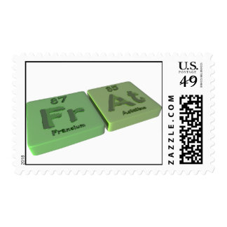 as Fr Francium and At Astatine Stamps