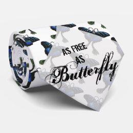 As free as a Butterfly Peacock Butterbird Feelings Tie