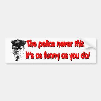 As Funny Car Bumper Sticker