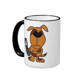 AS- Funny Puppy Dog Texting Mug
