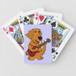 AS- Golden Retriever Playing the Guitar Cartoon Deck Of Cards