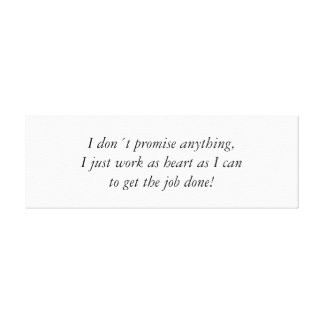 As heart as I can, quote wrapped canvas