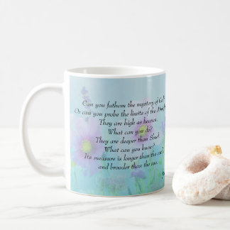As High as Heaven, Job 11 Coffee Mug