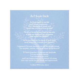 As I Look Back, Canvas Print