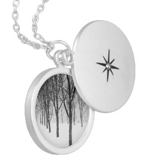 as I side with trees Silver Plated Necklace