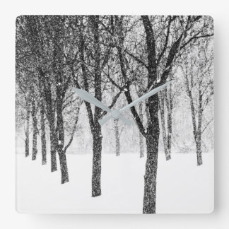 as I side with trees Square Wall Clock