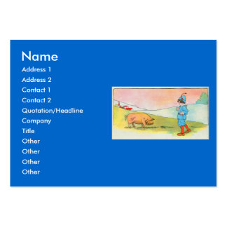 As I went to Bonner, I met a pig Large Business Cards (Pack Of 100)