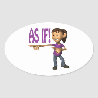 As If Oval Sticker