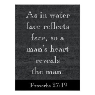 As in water - Proverbs 27:19 - art print