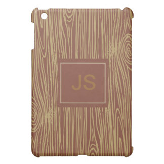 AS iPad Case Brown Faux Bois