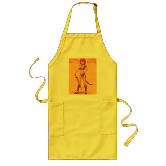 AS KITTENS HAVE CLAWS, KITCHENSHAVE LAWS LONG APRON